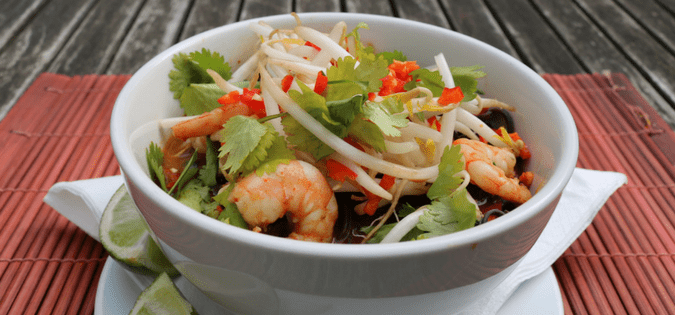 Prawn Laksa by clapham personal trainer James Staring